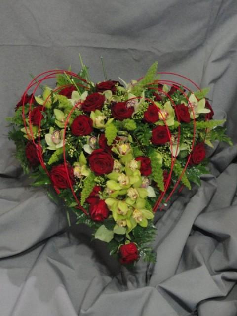 Сърце с цветя